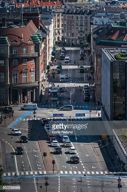 a street with traffic in copenhagen - dorte fjalland stock pictures, royalty-free photos & images