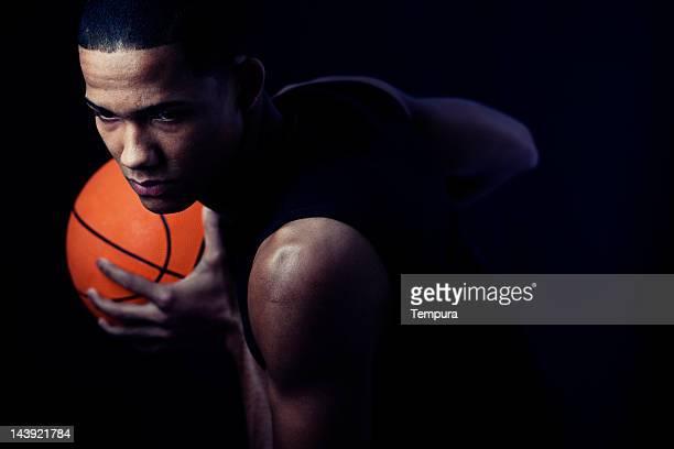 Streetball player's portrait _horizontal