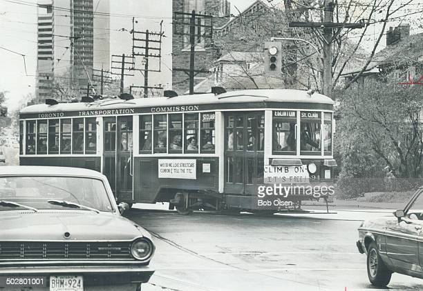 Streetcar called desirable: Area residents ride 55-year-old Peter Witt streetcar from St. Clair subway station to Eglinton Ave. To try to influence...