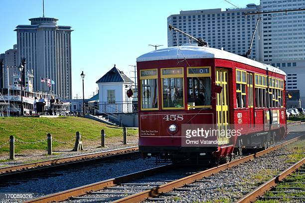 Streetcar in New Orleans near the French Market