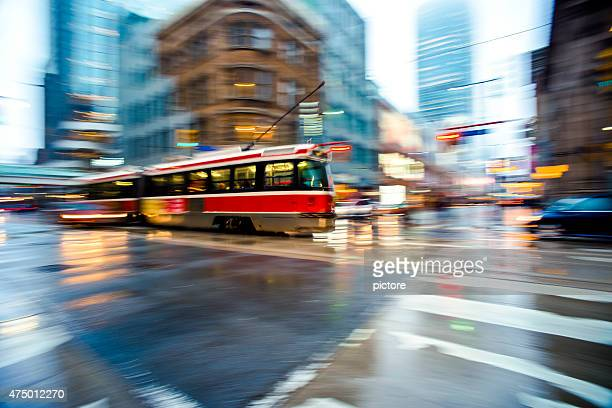 streetcar in toronto - toronto stock pictures, royalty-free photos & images