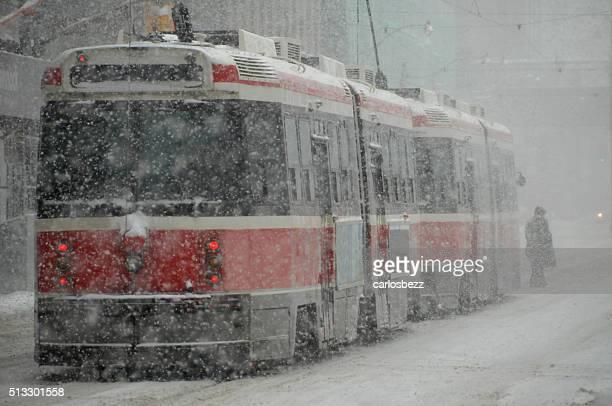 streetcar snowstorm