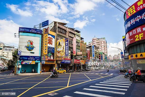 Streetlevel cityscape of New Taipei City