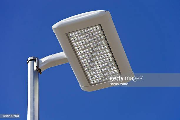 LED Streetlight against a Clear Blue Sky