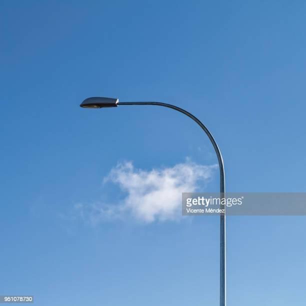 Streetlight and cloud