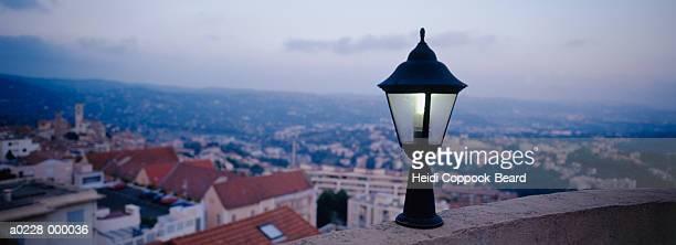 Streetlight and Village
