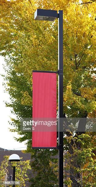 streetlight banner - poste imagens e fotografias de stock