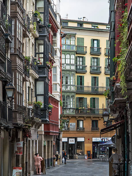 Streets and buildings at Casco viejo, Bilbao