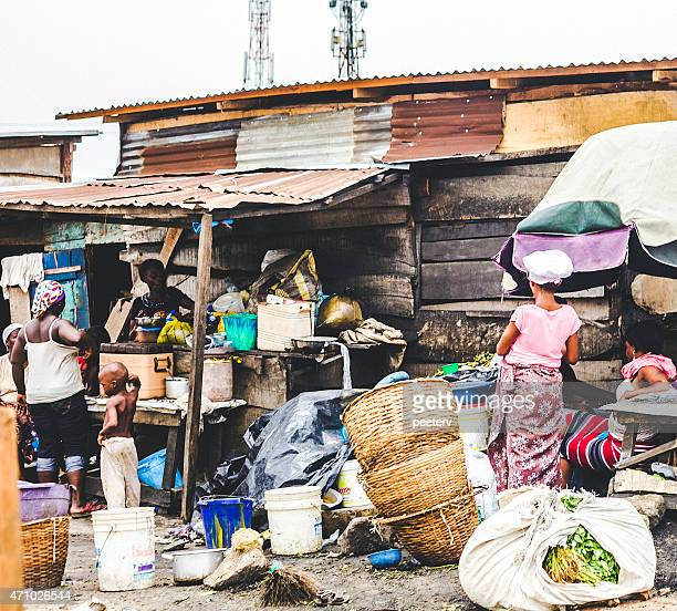 streets in lagos, nigeria. - nigerian food stock pictures, royalty-free photos & images