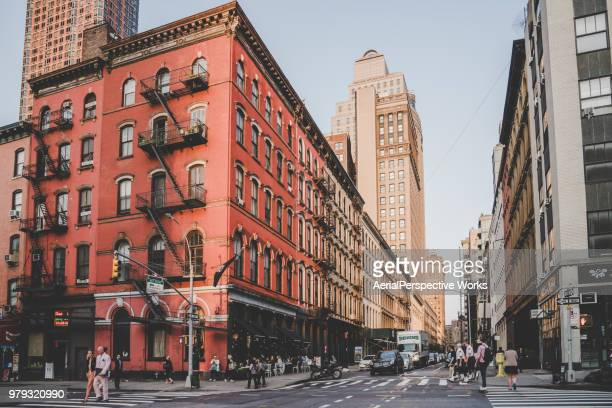 streets in manhattan, nyc - soho new york stock photos and pictures