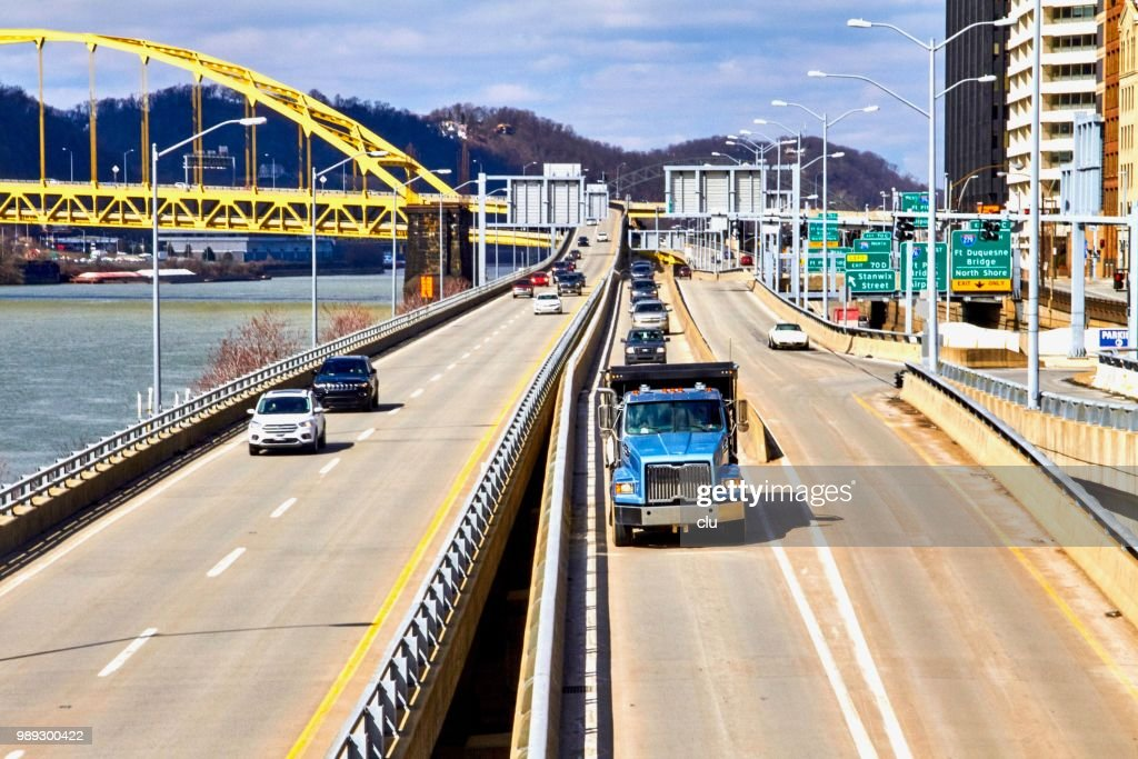 Streets in Pittsburgh : Stock Photo