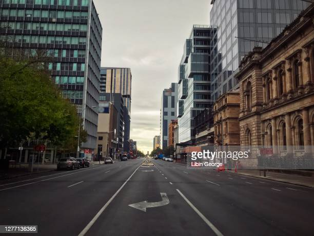 streets of adelaide city in australia - adelaide stock pictures, royalty-free photos & images