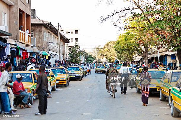 Streets of african town.