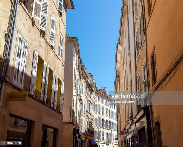 streets of aix-en-provence, france - bouches du rhone stock pictures, royalty-free photos & images