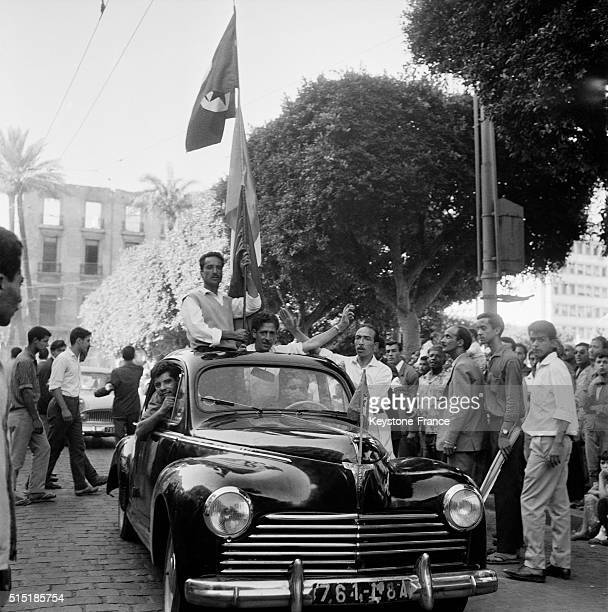 Streets Of Algiers Four Days After The Proclamation Of Independence in Algiers Algeria on July 5 1962
