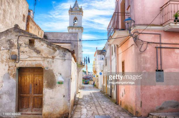 streets of bernalda, a little village in the south of italy - バシリカータ ストックフォトと画像