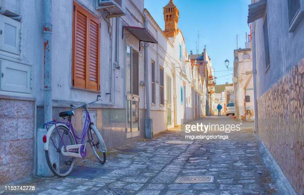 streets of bernalda, a little village in the south of italy - basilicata region stock pictures, royalty-free photos & images