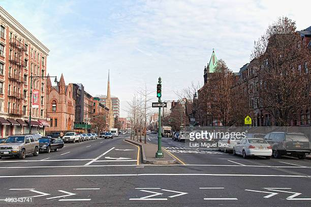 Streets of Bronx in New York, United States 2013.