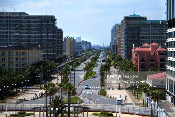 streets of chiba - chiba city stock pictures, royalty-free photos & images
