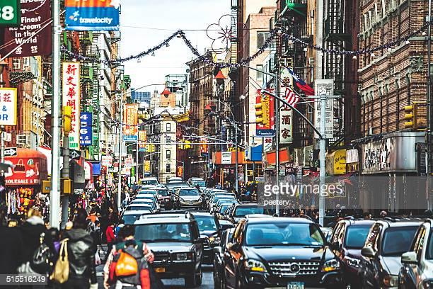 通りのチャイナタウンでニューヨークます。