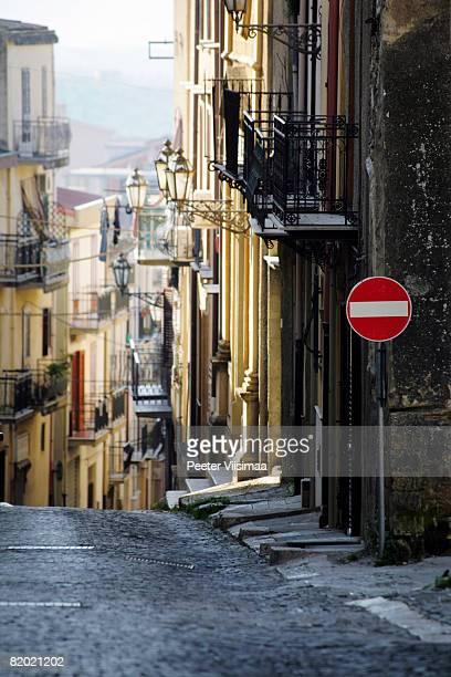 streets of corleone, sicily, italy