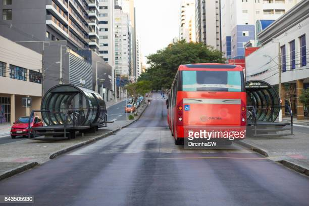 streets of curitiba, parana, brazil. - curitiba stock pictures, royalty-free photos & images