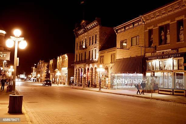 streets of deadwood, south dakota - deadwood south dakota stock pictures, royalty-free photos & images