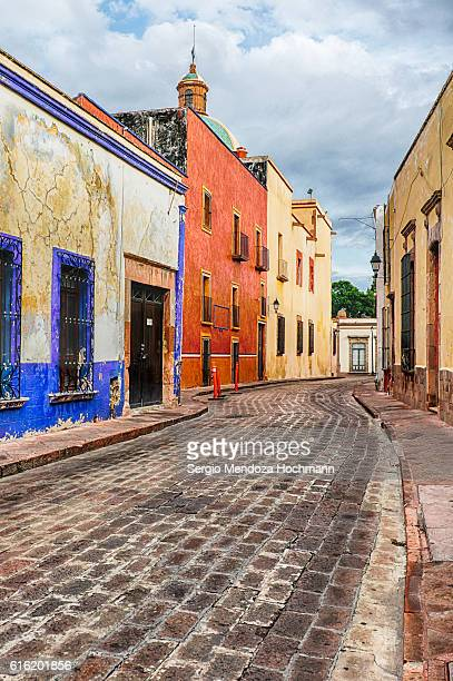 streets of downtown queretaro, mexico - queretaro state stock pictures, royalty-free photos & images