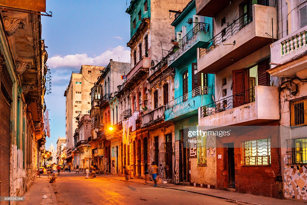 Old havana stock photos and pictures getty images streets of havana cuba at dusk stopboris Gallery