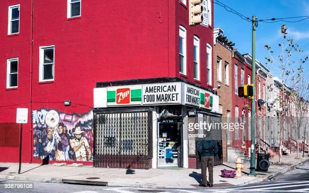 インナーシティ - ボルティモア、md の街 - メリーランド州 ボルチモア ストックフォトと画像