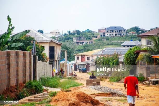 straten van lagos, nigeria - lagos nigeria stockfoto's en -beelden