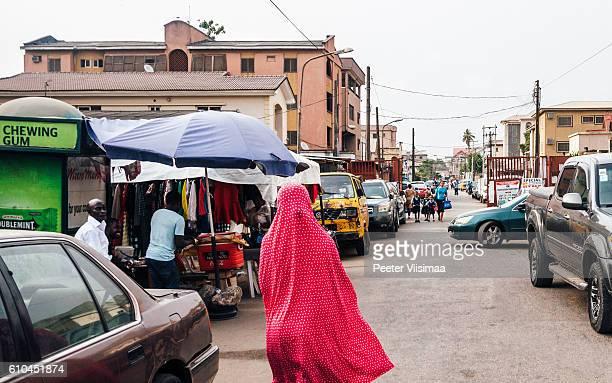 Rues de Lagos, Nigéria.
