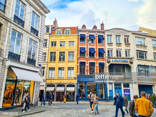 streets of lille, france - france lille stock pictures, royalty-free photos & images