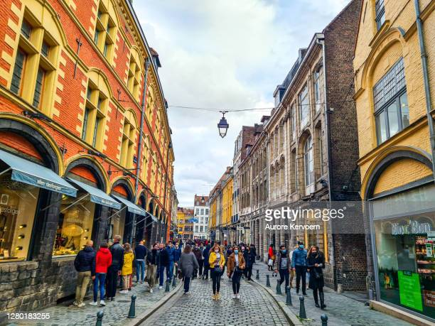 streets of lille, france - lille,_france stock pictures, royalty-free photos & images