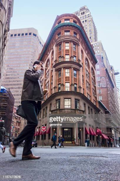streets of new york - new yorker building stock photos and pictures