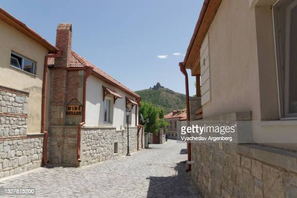streets of old mtskheta, georgia - argenberg stock pictures, royalty-free photos & images