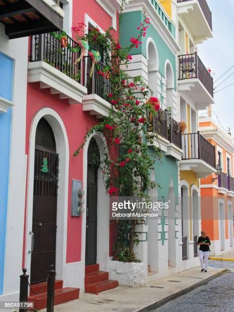 calles del viejo san juan, puerto rico - viejo san juan fotografías e imágenes de stock