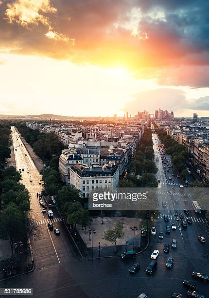 Rues de Paris depuis ci-dessus