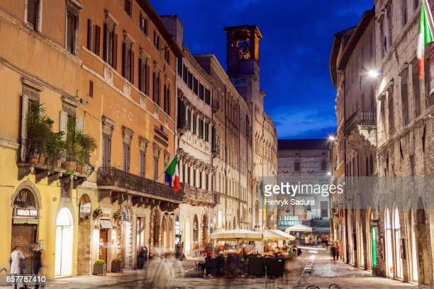 Streets of Perugia at night