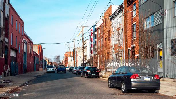streets of philadelphia - north stock pictures, royalty-free photos & images