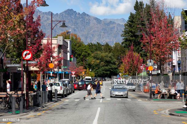Streets of Queenstown in the Remarkable Mountains of New Zealand