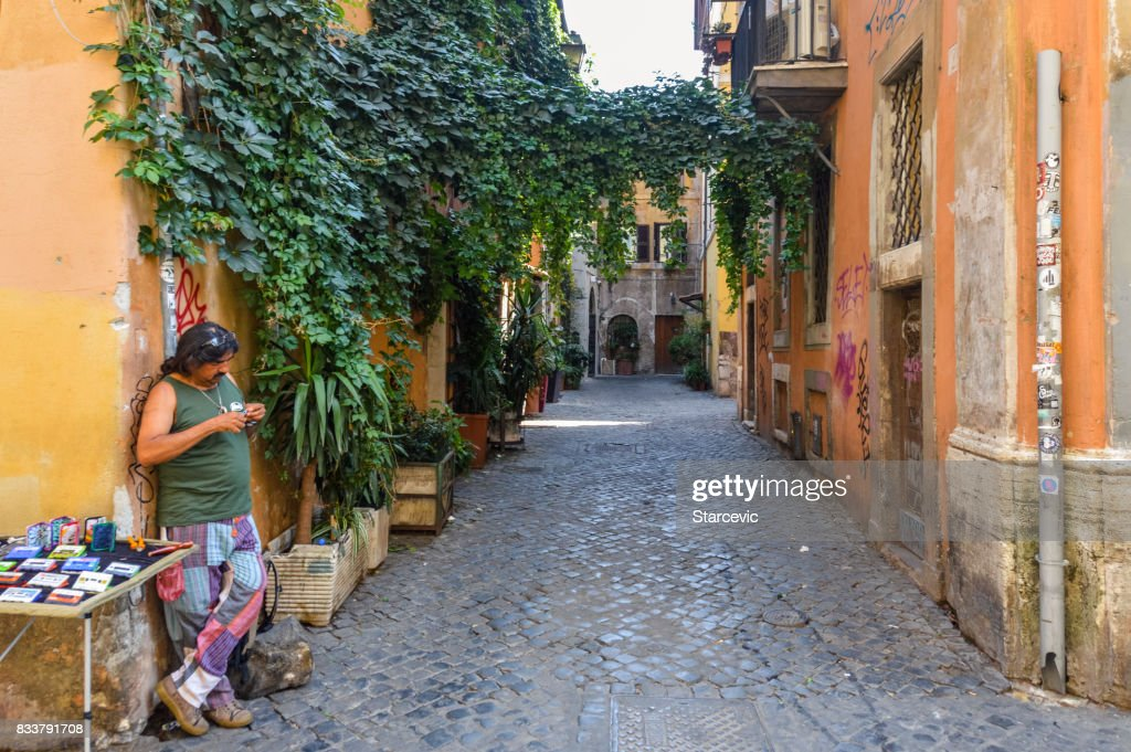 Streets of Rome, Italy : Stock Photo
