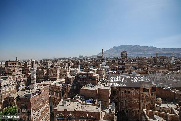 Streets of Sanaa from above