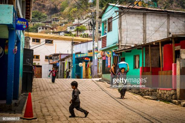 streets of santa catarina in guatemala. - guatemala stock pictures, royalty-free photos & images