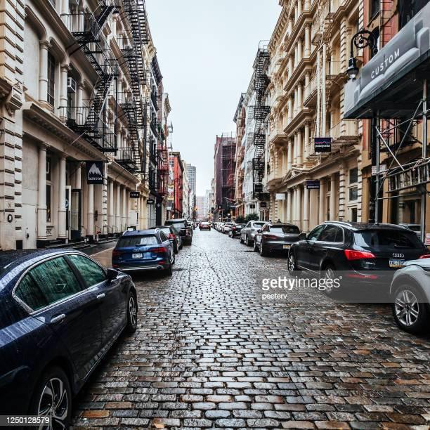 ソーホーの街 - マンハッタン、ニューヨーク市 - ニューヨーク ソーホー ストックフォトと画像