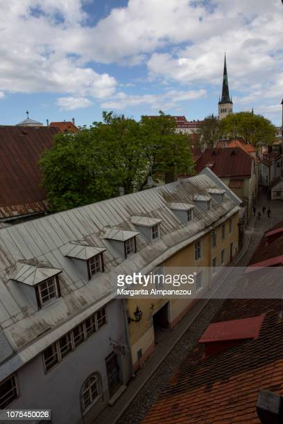 Streets of Tallinn from above