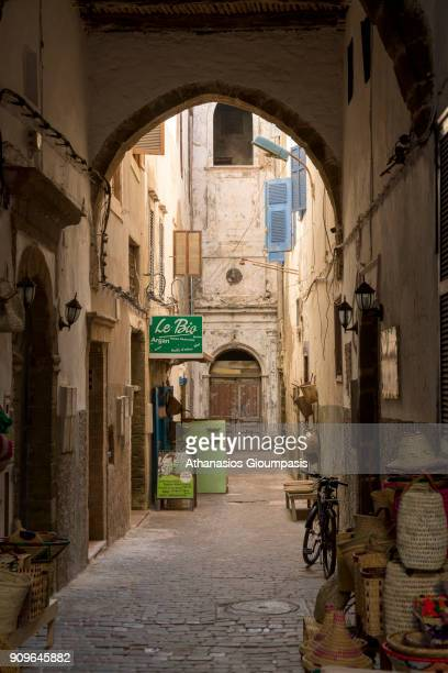 Streets of the Essaouira walled medina on January 05 2018 in Essaouira Morocco Essaouira is a port city and resort on Morocco's Atlantic coast Its...