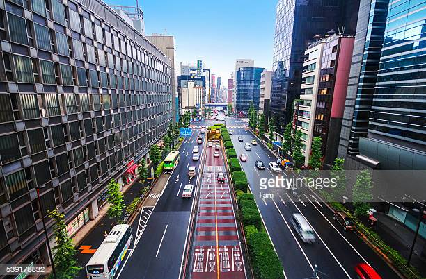 Streets of Tokyo, Japan cityscape and highways. Cityscape of TOKYO City.