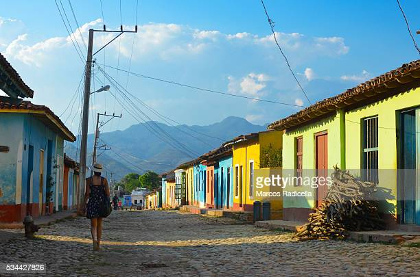 streets of trinidad, cuba - radicella stock pictures, royalty-free photos & images