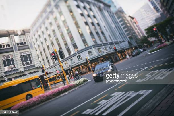 streets of wellington, new zealand - wellington new zealand stock photos and pictures